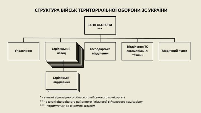 Структура загону оборони