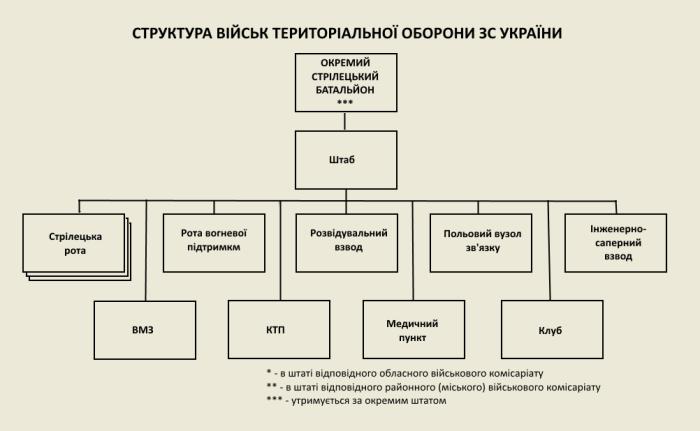 Структура стрілецького батальйону